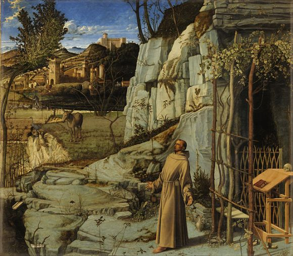 St Francis in Ectsasy Giovanni Bellini